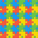 Puzzles. Seamless color pattern Stock Photography