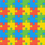 Puzzles. Seamless color pattern Royalty Free Stock Image