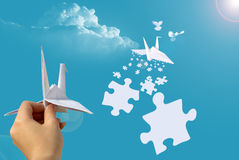 Puzzles in sky Royalty Free Stock Image