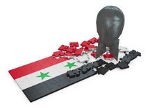 Puzzles of Syria Stock Image