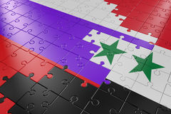 Puzzles Syria and Russia Stock Photography