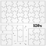 Puzzles. Thin line for web and mobile, modern minimalistic flat Stock Photos