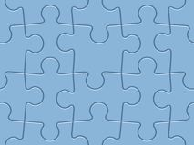 Puzzles tiled background Stock Image