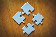 Puzzles are unity in the group. stock photography