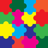 Puzzles.Vectors. Colorful Puzzles background.Puzzles Vectors royalty free illustration
