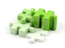Puzzles which have different height. And different colour Stock Images