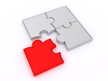 Puzzles on a white background Stock Photos