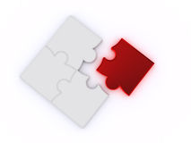 Puzzles on a white background Stock Images