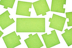 Puzzles on a white background Royalty Free Stock Photo