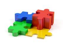 Puzzlespiel. Lizenzfreie Stockfotos