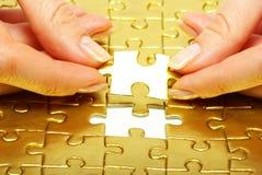 Puzzlespiel stockfotos