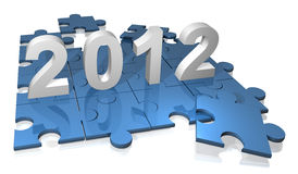 Puzzlespiel 2012 Stockfotografie