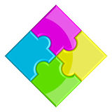 Puzzlespiel Stockbilder