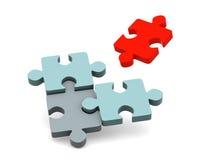 Puzzlespiel. Stockbild