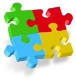 Puzzlespiel 3D Lizenzfreies Stockbild