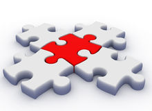 Puzzlespiel 3d Lizenzfreie Stockfotografie