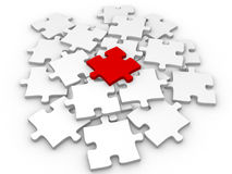 Puzzlespiel 3d. Erfolgsanschluß-Stückgeschäft Stockfoto