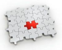 Puzzlespiel 3d getrennt auf weißem Hintergrund. Stockfotos