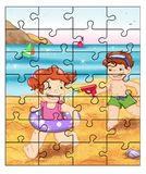 Puzzlespiel 4 Lizenzfreie Stockbilder