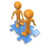 Puzzlespiel-Abkommen vektor abbildung
