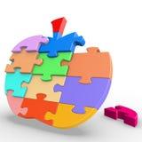 Puzzlespiel Apple Lizenzfreies Stockfoto