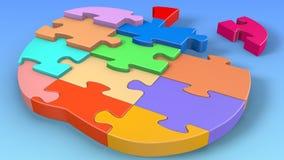 Puzzlespiel Apple Stockfotografie