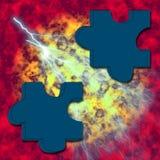 Puzzlespiel auf Feuer Lizenzfreie Stockbilder