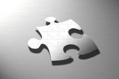 Puzzlespiel auf Puzzlespiel Stockfotografie