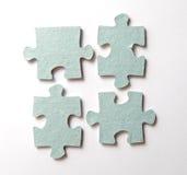 Puzzlespiel auf Weiß Lizenzfreies Stockbild