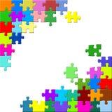 Puzzlespiel auf weißem backround Lizenzfreie Stockfotos