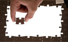 Puzzlespiel + Beschneidungspfade stockbild