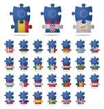 Puzzlespiel bessert Europa aus Lizenzfreie Stockbilder