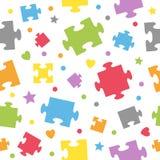 Puzzlespiel bessert nahtloses Muster aus Stockfotografie