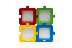 Puzzlespiel bessert Quadrat aus Lizenzfreie Stockfotografie