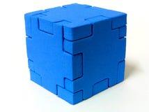 Puzzlespiel - BLAU Lizenzfreie Stockfotos