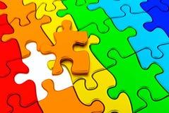 Puzzlespiel bunt Lizenzfreie Stockbilder