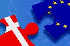 Puzzlespiel Dänemark-Europäischer Gemeinschaft Stockfoto
