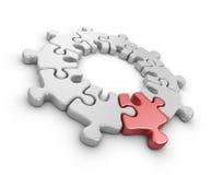 Puzzlespiel 3D. Erneuern Konzept.  Lizenzfreie Stockfotos