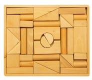 Puzzlespiel der hölzernen Blöcke Lizenzfreie Stockbilder
