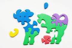 Puzzlespiel der Kuh Stockbild