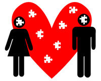 Puzzlespiel der Liebe stockfoto