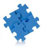 Puzzlespiel des Blaus 3D Lizenzfreies Stockbild