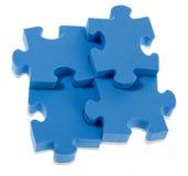 Puzzlespiel des Blaus 3D Stockbilder