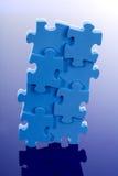 Puzzlespiel des Blaus 3D Stockbild