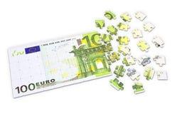 Puzzlespiel des Euro 100 Lizenzfreies Stockbild