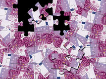Puzzlespiel des Euro 500 Stockbild