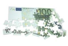 Puzzlespiel 2 des Euros 100 Lizenzfreie Stockbilder