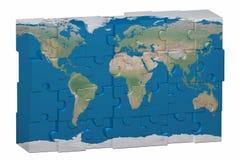 Puzzlespiel des Weltbildes Stockbilder