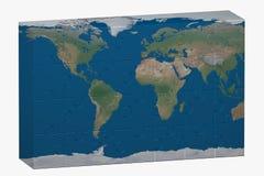 Puzzlespiel des Weltbildes Lizenzfreie Stockfotografie