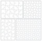 Puzzlespiel eingestellt: 20, 24, 49, 120 Stücke Lizenzfreie Stockbilder